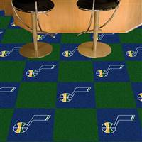 "Utah Jazz Carpet Tiles 18""x18"" Tiles, Covers 45 Sq. Ft."