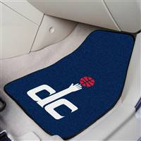 "Washington Wizards 2-piece Carpeted Car Mats 18""x27"""