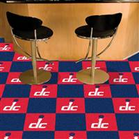 "Washington Wizards Carpet Tiles 18""x18"" Tiles, Covers 45 Sq. Ft."