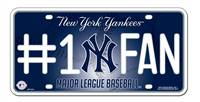 New York Yankees License Plate #1 Fan
