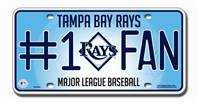 Tampa Bay Rays License Plate #1 Fan