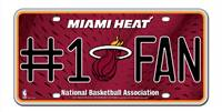 Miami Heat License Plate #1 Fan