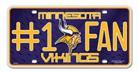 Minnesota Vikings License Plate #1 Fan