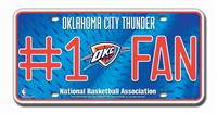 Oklahoma City Thunder License Plate #1 Fan - Special Order