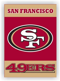 "San Francisco 49Ers 2-Sided 28"" x 40"" House Banner"