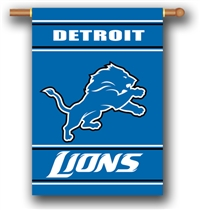 Detroit Lions 2-Sided 28 X 40 House Banner