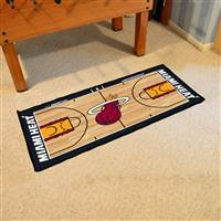 Miami Heat NBA Court Runner Mat 24x44