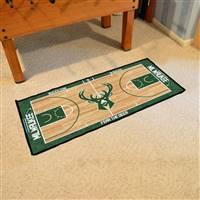 Milwaukee Bucks NBA Court Runner Mat 24x44