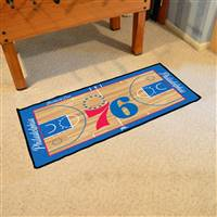 Philadelphia 76ers NBA Court Runner Mat 24x44
