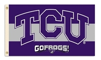 Texas Christian Horned Frogs 3 Ft. X 5 Ft. Flag W/Grommets