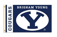 Brigham Young Cougars 3 Ft. X 5 Ft. Flag W/Grommets