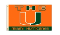 Miami Hurricanes 3 Ft. X 5 Ft. Flag W/Grommets