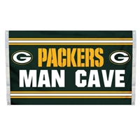 Green Bay Packers Man Cave 3 x 5 Flag w/ 4 Grommets