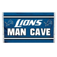 Detriot Lions Man Cave 3 x 5 Flag w/ 4 Grommets