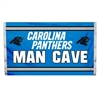 Carolina Panthers Man Cave 3 x 5 Flag w/ 4 Grommets