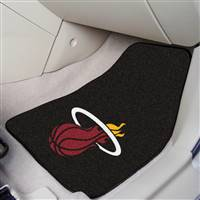"Miami Heat 2-Piece Carpeted Car Mats 18""x27"" - Black"