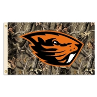 Oregon State Beavers 3 Ft. X 5 Ft. Flag W/Grommets - Realtree Camo Background