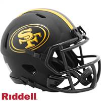 San Francisco 49ers Helmet Riddell Replica Mini Speed Style Eclipse Alternate Special Order