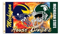 Michigan - Michigan St. 3 Ft. X 5 Ft. Flag W/Grommets - Helmet House Divided