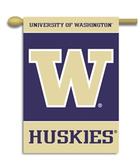 "Washington Huskies 2-Sided 28"" X 40"" Banner W/ Pole Sleeve"
