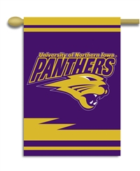 "Northern Iowa 2-Sided 28"" X 40"" Banner W/ Pole Sleeve"