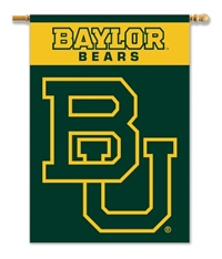 "Baylor Bears 2-Sided 28"" X 40"" Banner W/ Pole Sleeve"
