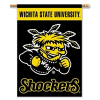 "Wichita State 2-Sided 28"" X 40"" Banner W/ Pole Sleeve"