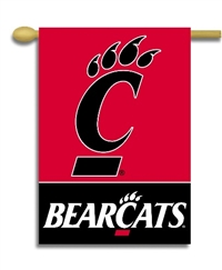 "Cincinnati Bearcats 2-Sided 28"" X 40"" Banner W/ Pole Sleeve"