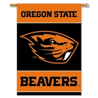 "Oregon State Beavers 2-Sided 28"" X 40"" Banner W/ Pole Sleeve"