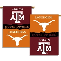 "Texas - Texas A & M 2-Sided 28"" X 40"" Banner W/ Pole Sleeve House Divided"