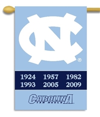 "North Carolina Tar Heels Champ Years 2-Sided 28"" X 40"" Banner W/ Pole Sleeve"