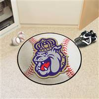 "James Madison Dukes Baseball Rug 29"" diameter"
