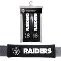 Oakland Raiders Seat Belt Pad 2 Pack