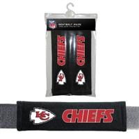 Kansas City Chiefs Seat Belt Pad 2 Pack