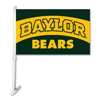 Baylor Bears Car Flag W/Wall Brackett