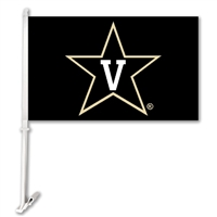 Vanderbilt Commodores Car Flag W/Wall Brackett