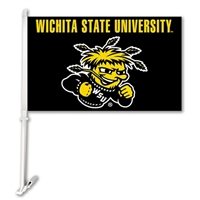 Wichita State Car Flag W/Wall Brackett