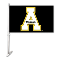 Appalachian State Car Flag W/Wall Brackett