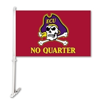 BSI Products East Carolina Pirates Car Flag With Wall Brackett