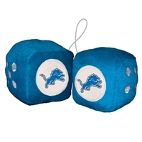 Detriot Lions Fuzzy Dice