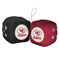 Kansas City Chiefs Fuzzy Dice