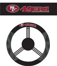 San Francisco 49Ers Steering Wheel Cover (Poly-Suede)