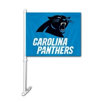 Carolina Panthers Car Flag W/Wall Brackett