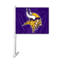 Minnesota Vikings Car Flag w/Wall Bracket