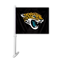 Jacksonville Jaguars Car Flag W/Wall Brackett
