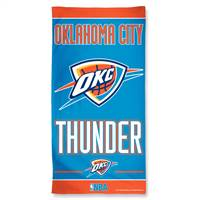 Oklahoma City Thunder Towel 30x60 Beach Style