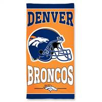 Denver Broncos Towel 30x60 Beach Style