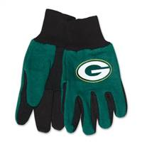 Green Bay Packers Two Tone Adult Size Gloves