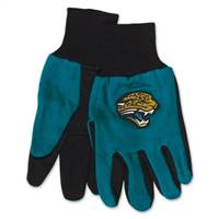 Jacksonville Jaguars Two Tone Adult Size Gloves