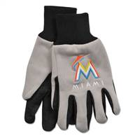 Miami Marlins Two Tone Gloves - Adult Size - Special Order